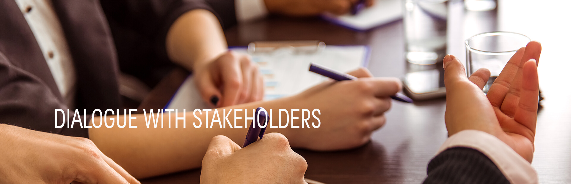 Dialogue with stakeholders