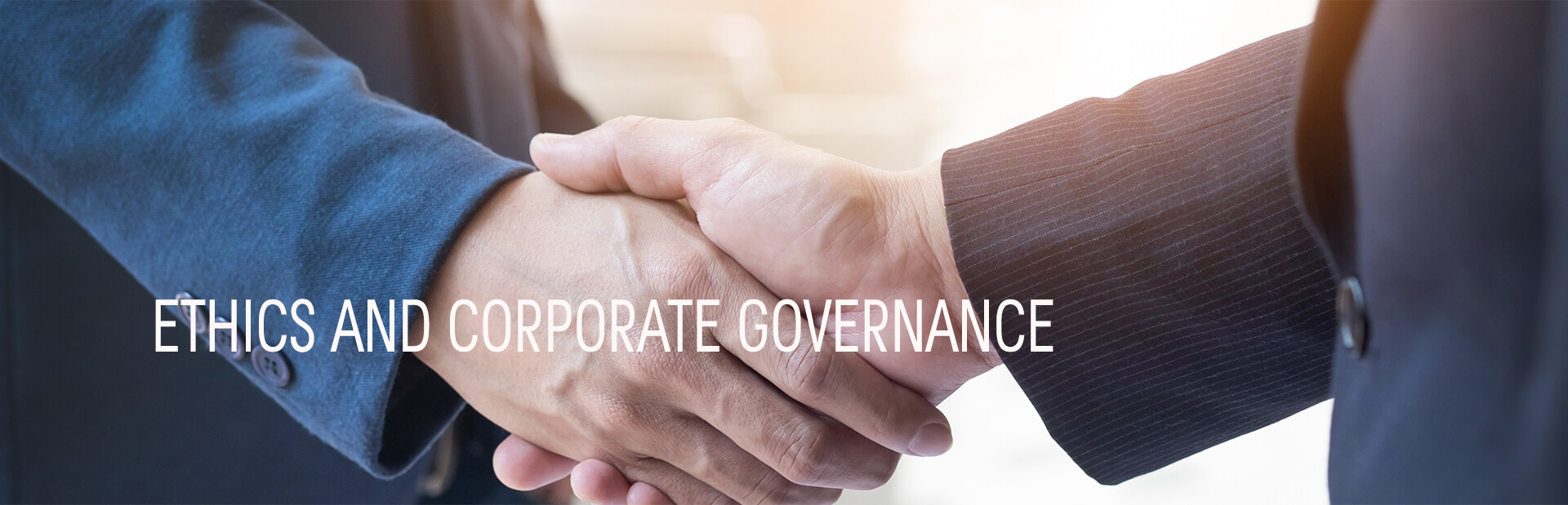 Ethics and corporate governance
